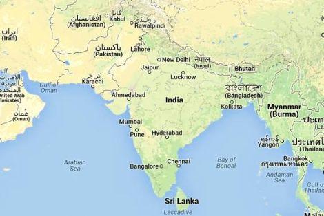 Mapa i Położenie Indii