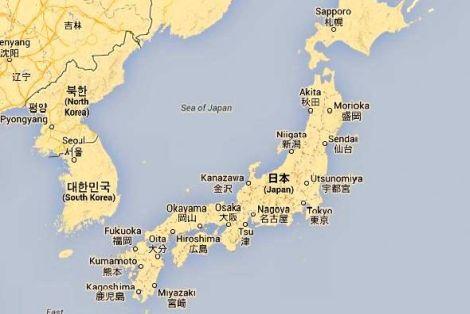 Mapa i Położenie Japonii