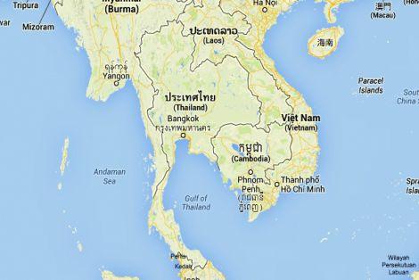 Mapa i Położenie Tajlandii