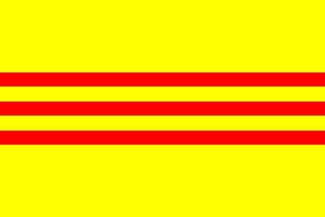 Flaga Dynastii Nguyen i Wietnamu Południowego