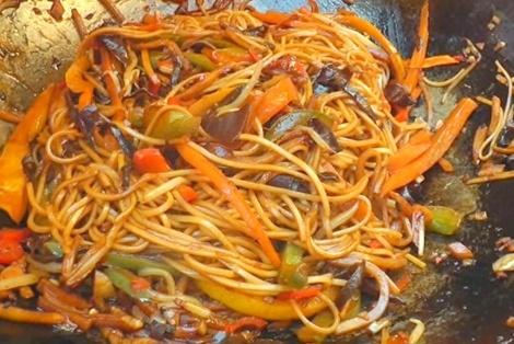 Wegetariański Chow Mein