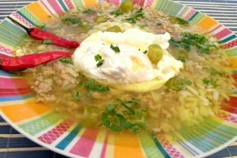 Zupa Ryżowa z Jajkiem