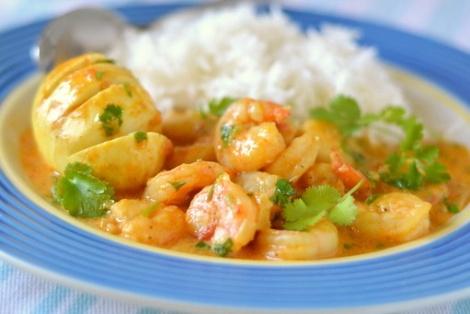 Krewetki Curry Z Jajkiem Z Goa