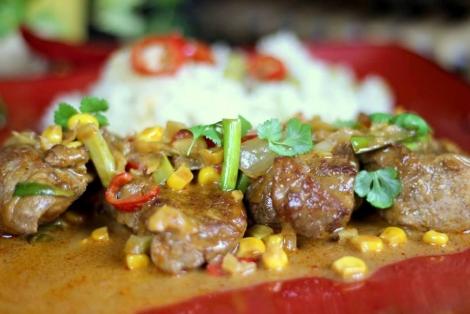 Polędwiczki Curry z Kuskusem