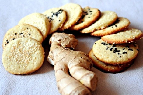 Ciasteczka Imbirowe z Sezamem