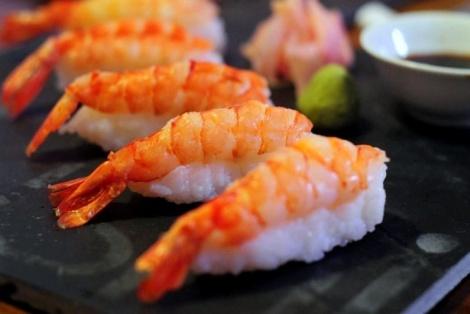 Nigiri Sushi z Krewetek
