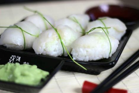 Nigiri Sushi z Halibutem