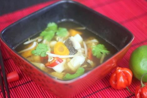 Zupa Miso z Halibutem