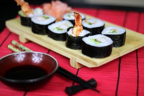 Sushi Tempura Maki z Krewetką