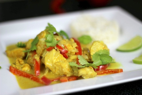 Kurczak z Mlekiem Kokosowym po Tajsku