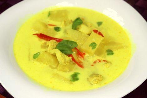 Zupa Ananasowo - Kokosowa