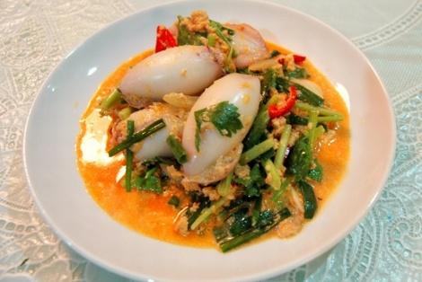 Smażone Nadziewane Kalmary Z Curry