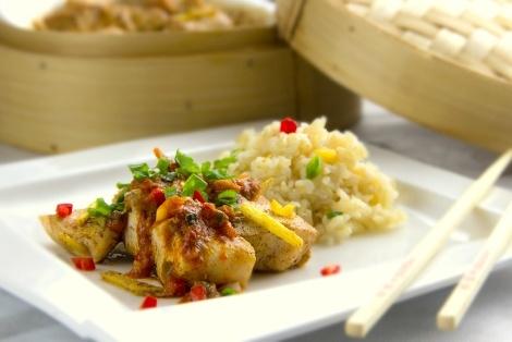 Kurczak Na Parze z Sosem Curry
