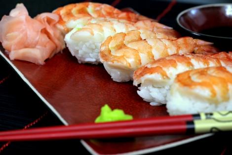 Ebi Nigiri Sushi z Krewetką